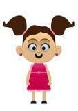 Η απεικόνιση ενός χαριτωμένου κοριτσιού έντυσε ως λήψη πριγκηπισσών απεικόνιση αποθεμάτων