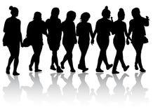 η απεικόνιση μόδας επαγγελματικών καρτών ανασκόπησης σκιαγραφεί τις διανυσματικές γυναίκες ύφους διανυσματική απεικόνιση