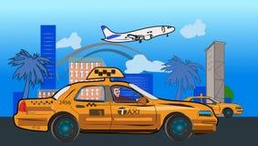 η απεικόνιση οδηγών σχεδίου σας μετακινείται με ταξί Στοκ φωτογραφίες με δικαίωμα ελεύθερης χρήσης