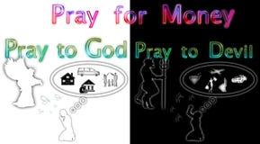Η απεικόνιση προσεύχεται για το ΘΗΛΥΚΟ χρημάτων ελεύθερη απεικόνιση δικαιώματος