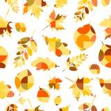 η απεικόνιση φθινοπώρου αφήνει στο πρότυπο το άνευ ραφής διάνυσμα Στοκ Εικόνες