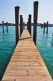 Η αποβάθρα γεφυρών της Βενετίας Ιταλία χαλαρώνει την έννοια ειρήνης Στοκ φωτογραφία με δικαίωμα ελεύθερης χρήσης