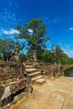Η αποβάθρα της δεξαμενής σε Angkor, Καμπότζη, Siem συγκεντρώνει Στοκ φωτογραφία με δικαίωμα ελεύθερης χρήσης