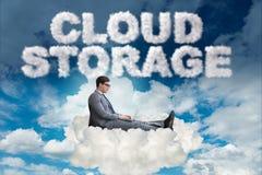 Η αποθήκευση υπολογισμού σύννεφων σε το έννοια στοκ φωτογραφία με δικαίωμα ελεύθερης χρήσης