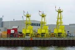 Η αποθήκη εμπορευμάτων Liebherr της επιχείρησης Στοκ Φωτογραφία
