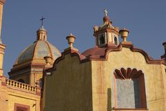 Η αποικιακή αρχιτεκτονική, Cadereyta de Montes σε Queretaro Στοκ Εικόνες