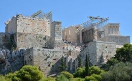 Η αποκατάσταση Propylaea στην Αθήνα στοκ εικόνες