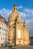 Η αποκατεστημένη εκκλησία της κυρίας μας στη Δρέσδη Στοκ εικόνα με δικαίωμα ελεύθερης χρήσης