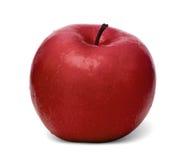 Η απομονωμένη κόκκινη Apple σε ένα άσπρο υπόβαθρο Στοκ Φωτογραφίες
