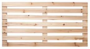 η απομονωμένη παλέτα δίνει άσπρο ξύλινο στοκ εικόνα