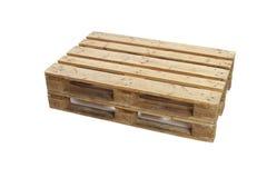 η απομονωμένη παλέτα δίνει άσπρο ξύλινο Στοκ φωτογραφία με δικαίωμα ελεύθερης χρήσης
