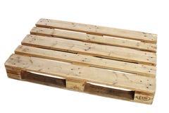 η απομονωμένη παλέτα δίνει άσπρο ξύλινο Στοκ εικόνες με δικαίωμα ελεύθερης χρήσης