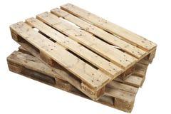 η απομονωμένη παλέτα δίνει άσπρο ξύλινο Στοκ εικόνα με δικαίωμα ελεύθερης χρήσης