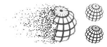 Η αποσύνθεση διέστιξε το ημίτονο αφηρημένο εικονίδιο πλέγματος σφαιρών Απεικόνιση αποθεμάτων
