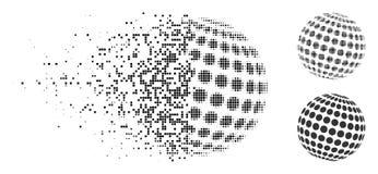 Η αποσύνθεση διέστιξε το ημίτονο διαστιγμένο περίληψη εικονίδιο σφαιρών Ελεύθερη απεικόνιση δικαιώματος
