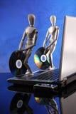 η αποτύπωση των CD άφησε το χρόνο βυσμάτων s στοκ εικόνα