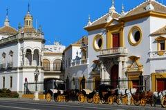Η αρένα ταυρομαχίας, Σεβίλη, Ισπανία. Στοκ Εικόνες