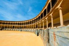 Η αρένα ταυρομαχίας στη Ronda είναι ένας από τον παλαιότερο και διασημότερο χώρο ταυρομαχίας στην Ανδαλουσία, Ισπανία Στοκ φωτογραφίες με δικαίωμα ελεύθερης χρήσης