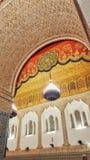 Η αραβική αρχιτεκτονική, η παλαιά και καλλιτεχνική πόρτα, Moulay idriss zarhoun, Μαρόκο στοκ φωτογραφία με δικαίωμα ελεύθερης χρήσης