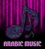 Η αραβική μουσική σημαίνει την υγιή διαδρομή και Άραβα ελεύθερη απεικόνιση δικαιώματος