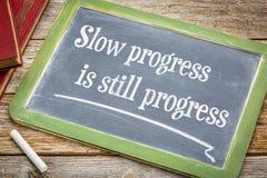 Η αργή πρόοδος είναι ακόμα απόσπασμα στον πίνακα στοκ εικόνα με δικαίωμα ελεύθερης χρήσης