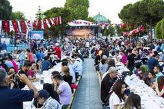 Η αρχή Ramadan στη Ιστανμπούλ στοκ φωτογραφίες