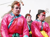 η αρχαία κινεζική φρίκη θέτ&epsilo Στοκ φωτογραφία με δικαίωμα ελεύθερης χρήσης