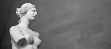 η αρχαία ομορφιά aphrodite πέταξε την ελληνική αγάπη χεριών θεών de drawing αντιγράφων που έγινε το γλυπτό Αφροδίτη ασβεστοκονιάμ Στοκ Εικόνες