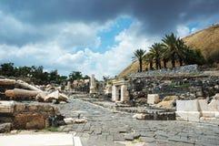 η αρχαία πόλη Ισραήλ beit κατα&sigma Στοκ Εικόνες