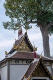 Η αρχαία πόλη Chiang Mai, Ταϊλάνδη Wat Chedi Luang & x28 Wat Chedi Luang& x29  Στοκ εικόνα με δικαίωμα ελεύθερης χρήσης