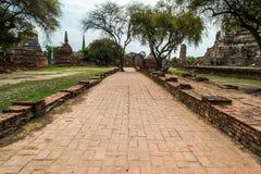 Η αρχαία Royal Palace σε Ayutthaya Ταϊλάνδη Στοκ Εικόνες