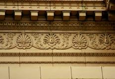 Η αρχιτεκτονική λεπτομέρεια από τις παλαιές άλκες κατοικεί την αίθουσα Στοκ Εικόνες
