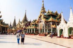 Η αρχιτεκτονική στην παγόδα Shwedagon σε Yangoon Στοκ Φωτογραφία