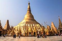 Η αρχιτεκτονική στην παγόδα Shwedagon σε Yangoon Στοκ φωτογραφίες με δικαίωμα ελεύθερης χρήσης