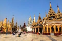 Η αρχιτεκτονική στην παγόδα Shwedagon σε Yangoon Στοκ εικόνα με δικαίωμα ελεύθερης χρήσης