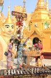 Η αρχιτεκτονική στην παγόδα Shwedagon σε Yangoon Στοκ εικόνες με δικαίωμα ελεύθερης χρήσης