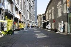 Η Ασία Κίνα, Πεκίνο, yuan περιοχή τέχνης οδών 22, σχεδιάζει την καινοτόμο πολιτιστική οδό Στοκ Εικόνες