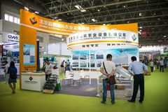 Η Ασία Κίνα, το Πεκίνο, το διεθνές κέντρο έκθεσης της Κίνας, η εσωτερική αίθουσα έκθεσης, το λουλούδι και ο κήπος παρουσιάζουν Στοκ φωτογραφίες με δικαίωμα ελεύθερης χρήσης