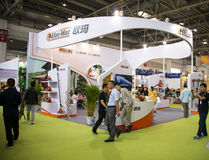 Η Ασία Κίνα, το Πεκίνο, το διεθνές κέντρο έκθεσης της Κίνας, η εσωτερική αίθουσα έκθεσης, το λουλούδι και ο κήπος παρουσιάζουν Στοκ Εικόνες