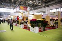 Η Ασία Κίνα, το Πεκίνο, το διεθνές κέντρο έκθεσης της Κίνας, η εσωτερική αίθουσα έκθεσης, το λουλούδι και ο κήπος παρουσιάζουν Στοκ Φωτογραφία