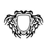 Η ασπίδα ως υπόβαθρο για το λογότυπο και το κείμενο ελεύθερη απεικόνιση δικαιώματος