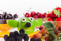 Η αστεία Apple Yoda Στοκ εικόνα με δικαίωμα ελεύθερης χρήσης