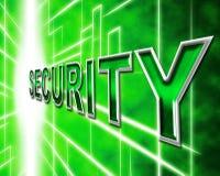 Η ασφάλεια δεδομένων σημαίνει τη γνώση που προστατεύονται και τη σύνδεση Στοκ φωτογραφία με δικαίωμα ελεύθερης χρήσης