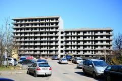 Η ατελής οικοδόμηση κατοικημένου κτηρίου σε Pasilaiciai Στοκ Εικόνα