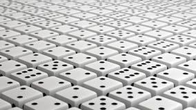 Η ατελείωτη σειρά παλιού λευκού χωρίζει σε τετράγωνα Στοκ εικόνες με δικαίωμα ελεύθερης χρήσης