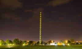 Η ατελείωτη στήλη τή νύχτα Στοκ φωτογραφία με δικαίωμα ελεύθερης χρήσης