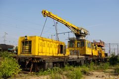 Η ατμομηχανή ή η μηχανή είναι ένας φορέας σιδηροδρομικών μεταφορών που προβλέπει την κινητήρια εξουσία για ένα τραίνο στοκ φωτογραφία με δικαίωμα ελεύθερης χρήσης