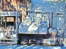 Η ατμομηχανή ορυχείου βόρακα TRONA στοκ εικόνα με δικαίωμα ελεύθερης χρήσης