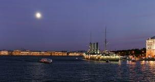 Η αυγή ταχύπλοων σκαφών, Αγία Πετρούπολη Στοκ εικόνα με δικαίωμα ελεύθερης χρήσης