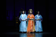 Η αυτοκρατορική concubines-πλάτη στις παλάτι-σύγχρονες αυτοκράτειρες δράματος στο παλάτι Στοκ φωτογραφία με δικαίωμα ελεύθερης χρήσης